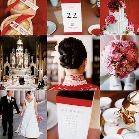 中西合併的婚禮