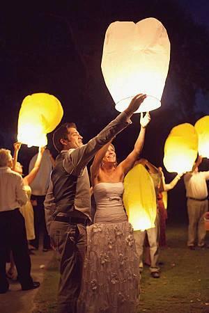 婚禮放天燈