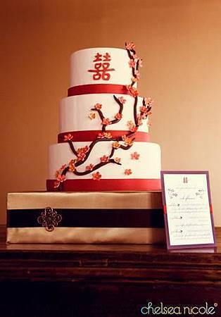 中國風喜帖&結婚蛋糕