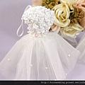 可艾婚禮小物 白紗禮服香包