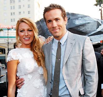 「花邊教主」布蕾克萊佛莉傳已和合演「綠光戰警」的萊恩雷諾斯結婚