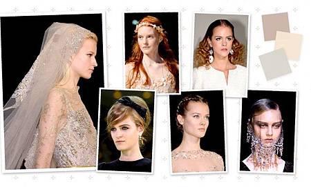 Runway啟發的新娘髮型