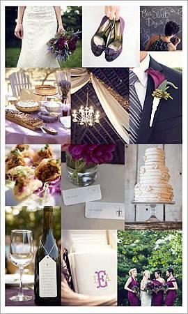 深紫色鄉村風婚禮