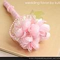 婚禮簽名筆_粉紅花朵