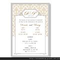 可艾單卡喜帖設計  西式婚卡