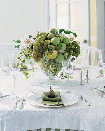 綠色系 賓客桌佈置