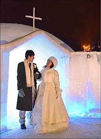 冰雕教堂婚禮