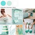 藍綠色系主題婚禮