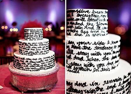 結婚誓詞蛋糕