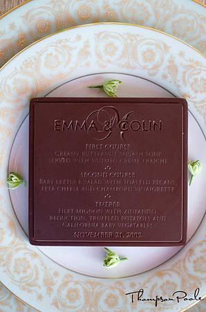 婚宴巧克力菜單