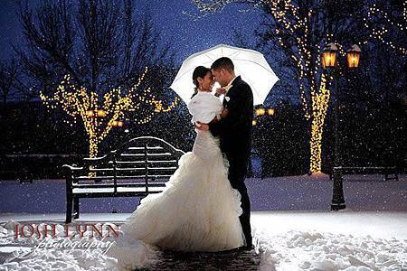 雨傘 in 浪漫婚紗照