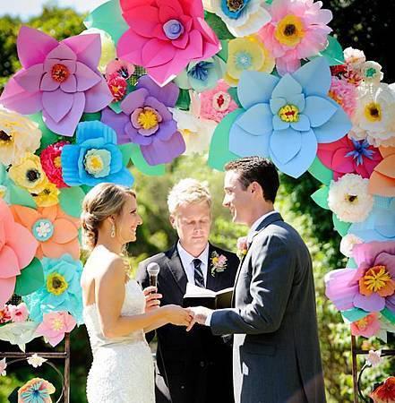 證婚儀式 紙花拱門
