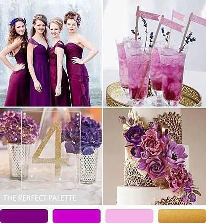 紫色+金色婚禮