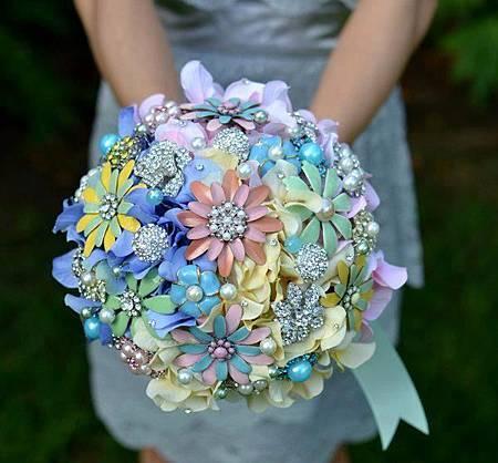雛菊珠寶捧花