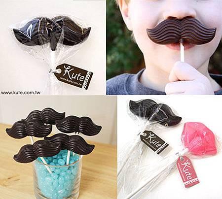 翹鬍子棒棒糖巧克力