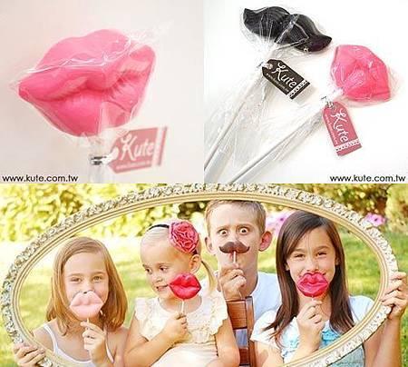 Kiss嘴唇棒棒糖巧克力