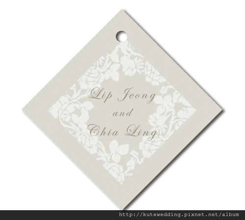 可艾婚禮小吊牌