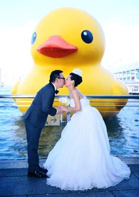 黃色巨鴨Rubber Duck