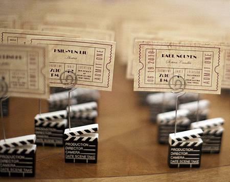 婚禮座位卡指示 電影票