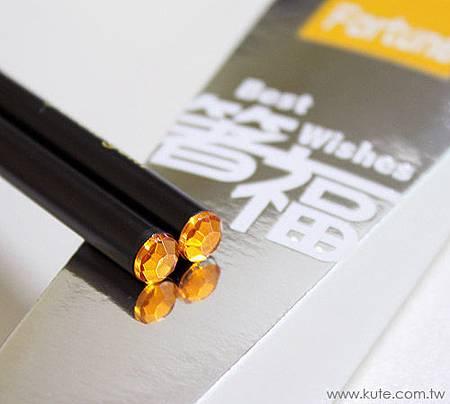 可艾婚禮小物_黃鑽箸福筷子禮盒