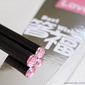 可艾婚禮小物_粉鑽箸福筷子禮盒