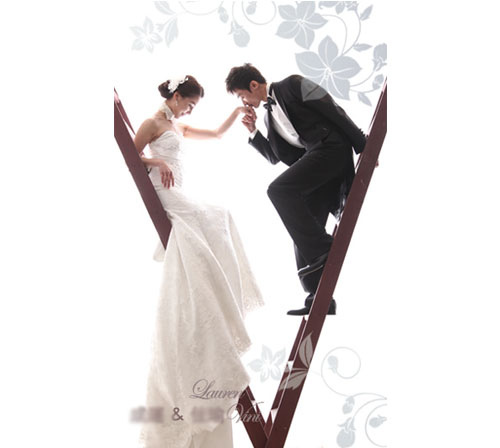 客製化婚紗謝卡