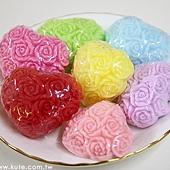 可艾婚禮小物_玫瑰花香皂 繡球花香皂