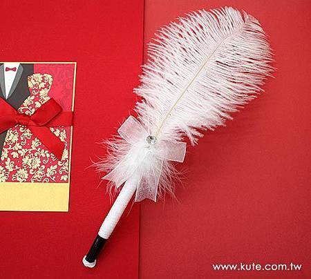 可艾婚禮用品_天鵝羽毛簽名筆