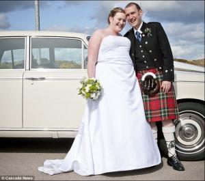 英國新娘狂減66公斤