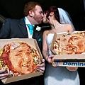 英國新人訂做逼真肖像披薩
