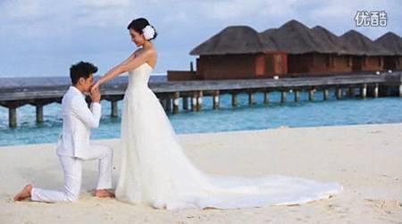 林志穎 馬爾地夫婚紗照影片