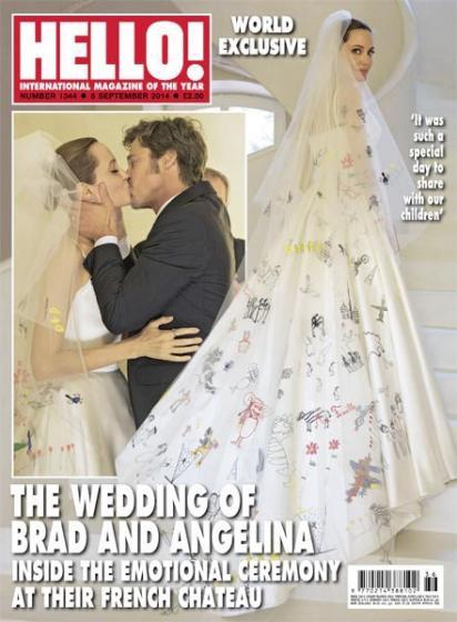 安潔莉娜裘莉 布萊德彼特 結婚 婚禮