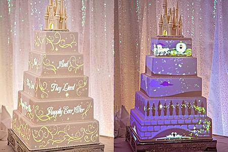 迪斯尼童話婚禮 推出的動畫婚禮蛋糕