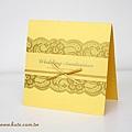 可艾婚禮設計 仿蕾絲緞帶喜帖