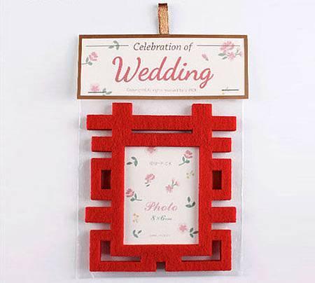 可艾婚禮小物 雙囍磁鐵相框