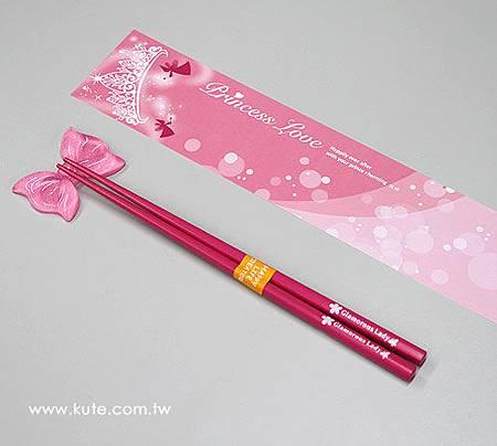 可艾婚禮小物 公主系列快架組 筷嫁姊妹裡伴娘禮