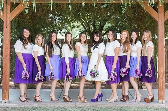 紫色短裙伴娘群