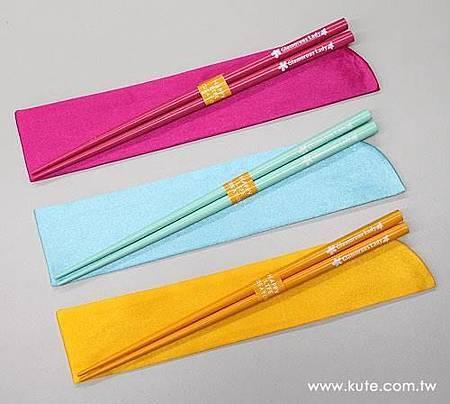 可艾婚禮小物 繽紛筷樂 緞布筷套筷子組