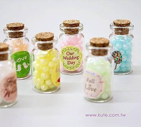 玻璃瓶喜糖 小瓶子糖果 送客喜糖 瓶裝喜糖