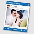 可艾婚禮設計 facebook謝卡 - 臉書貼文 婚紗謝卡