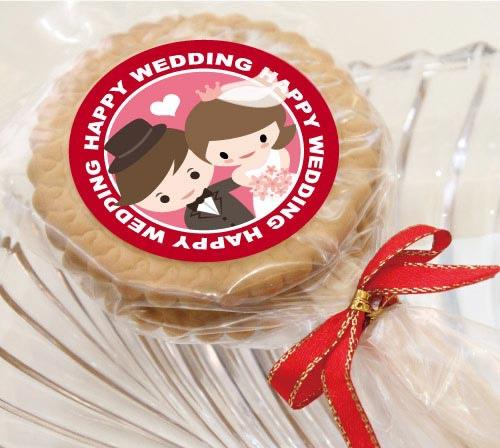 麥芽餅乾 婚禮二次進場禮物 Q版新人娃娃