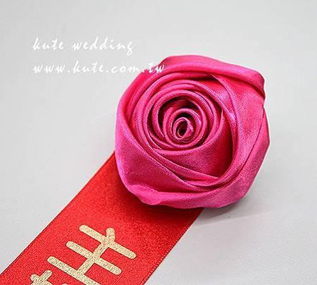 緞布婚禮胸花 結婚胸花名條