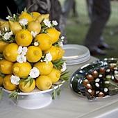 婚禮餐桌佈置 新鮮檸檬桌花