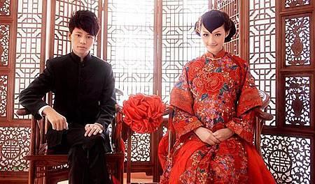中式傳統婚紗