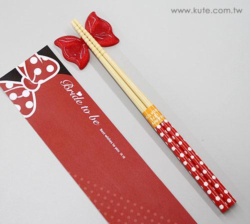 婚禮小物 伴娘禮 姊妹禮 捧花禮 筷子 筷架 可艾婚禮 可艾 kute 迪士尼 米妮 主題婚禮