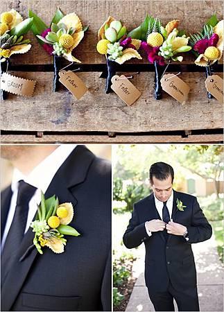 主題婚禮 婚禮造型 別針 新郎 伴郎