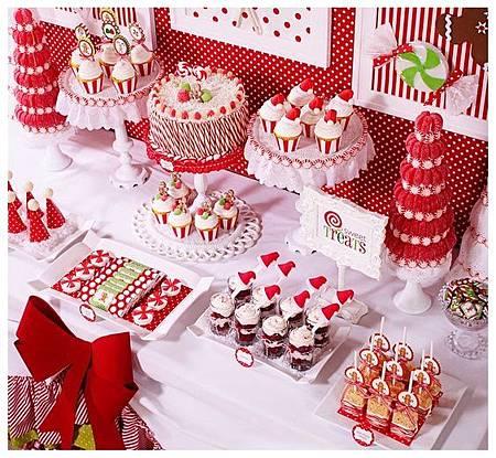 聖誕主題婚禮 甜點佈置.jpg