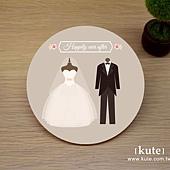 新郎新娘 吸水杯墊 婚禮小物