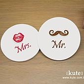 鬍子嘴唇 吸水杯墊 婚禮小物