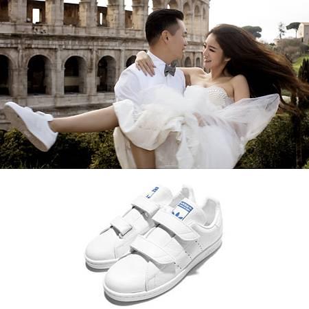 女星瘋穿小白鞋披婚紗2.jpg